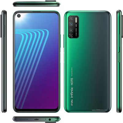 infinix note 7 line front back and sides image