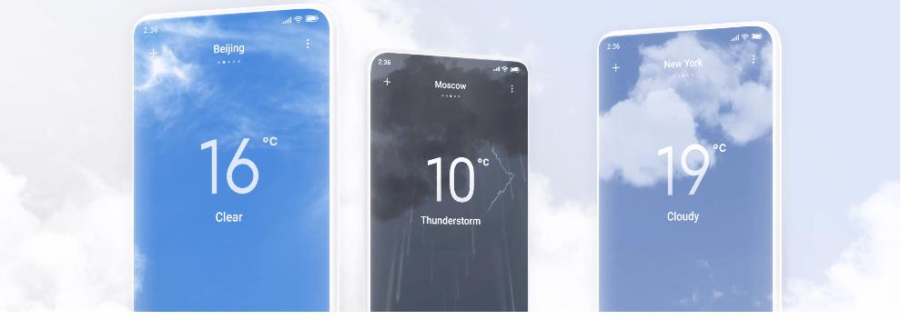 miui 12 weather widget display